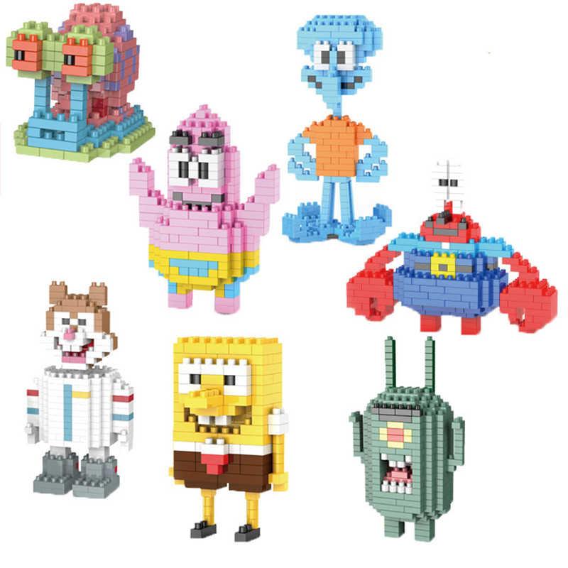 جديد سبونجبوب سلسلة لعب مجموعة متوافق lepinngly سبونجبوب سلسلة 223-231 ألعاب مكعبات البناء للطفل هدية عيد ميلاد