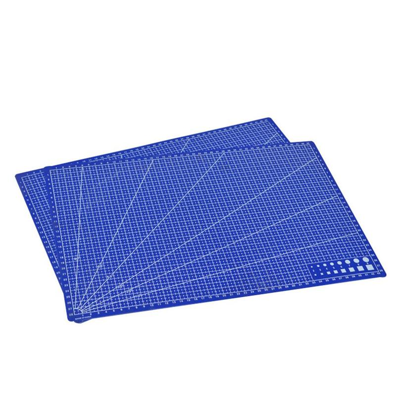 New 1Pc A3 Cutting Plate Pvc Rectangle Grid Lines Cutting Mat Plastic Diy Tools 45cm * 30cm School Office Supplies For Kids Gift 2
