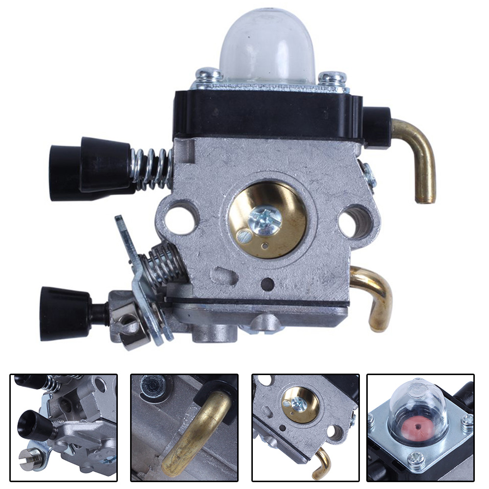 Gray <font><b>Carburetor</b></font> Carb 2-Stroke Anti-Slip Aluminum <font><b>Carburetor</b></font> <font><b>For</b></font> <font><b>STIHL</b></font> <font><b>FS38</b></font> <font><b>FS45</b></font> FS46 FS55 FS74 FS75 FS76 FS80 FS85 Trimmer image