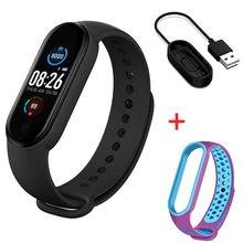 Relógio inteligente m5 banda inteligente esporte rastreador de fitness pedômetro freqüência cardíaca monitor de pressão arterial m5 bluetooth pulseira masculina