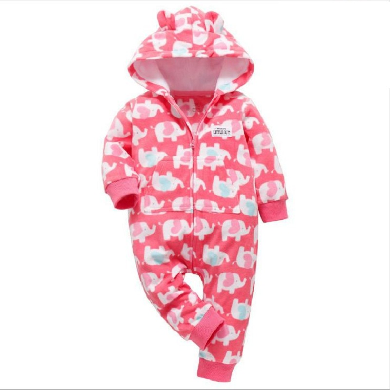 fall winter baby clothes new born boy girl long sleeve hooded jumpsuit toddler onesie costume