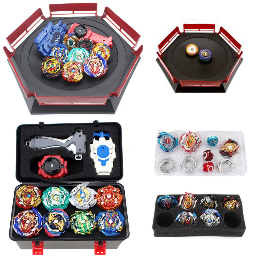 New <font><b>Beyblade</b></font> <font><b>Burst</b></font> Set Toys Beyblades Arena Bayblade Set Metal Fusion Fighting Gyro 4D with Launcher Spinning Top Bey Blade Toys image