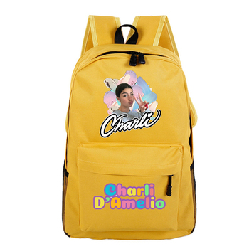 School Bags for Teenage Girls Charli Damelio Backpack Women Mochilas Escolares Bookbag Laptop Back Pack Men Kawaii Backpack Kids 7