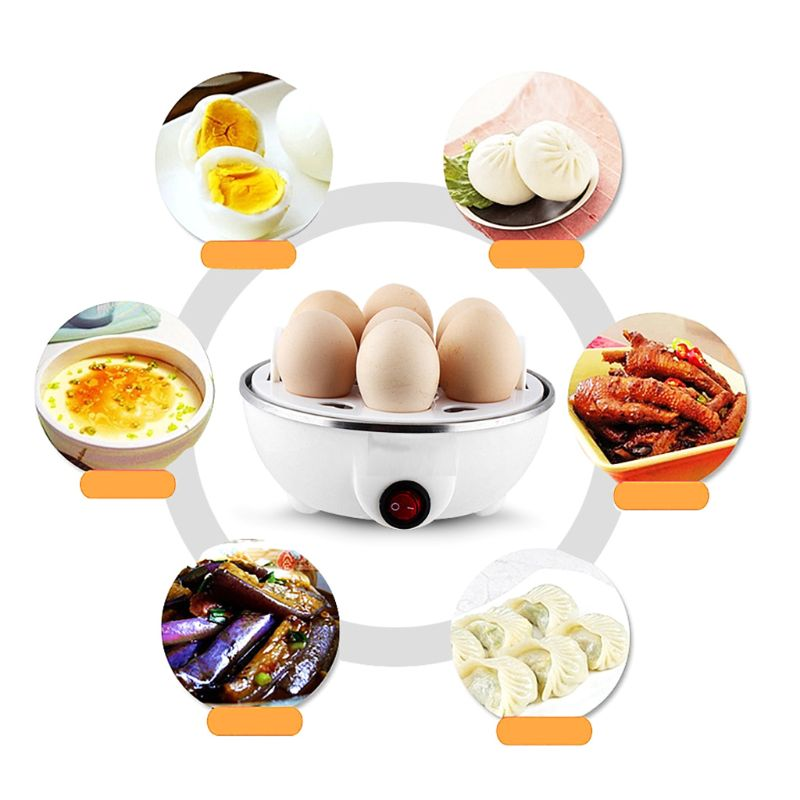 7 Egg Capacity Electric Egg Cooker For Hard Boiled Eggs Multi-function Cartoon Hen Egg Boiler With Auto Shut Off