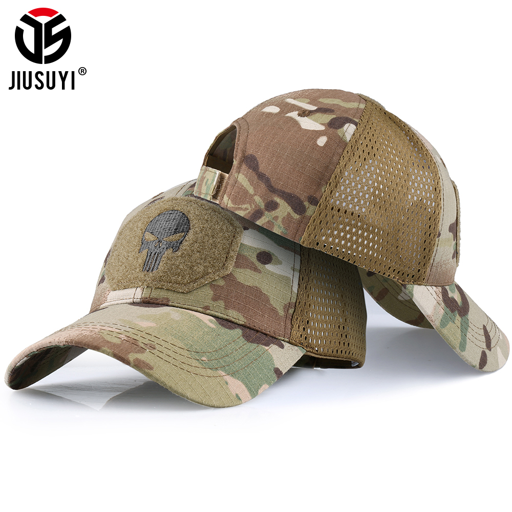 Military Baseball Caps Camouflage Tactical Army Combat Paintball Basketball Football Adjustable Classic Snapback Sun Hats Men