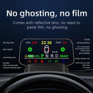 Image 3 - T2 HUD הראש למעלה תצוגה מראה ניווט אבחון כלים מחוון אור שעון רכב מהירות ערפל אור 2021 עבור טסלה דגם 3