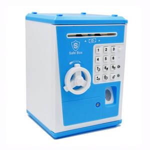 Money-Box Fingerprint Banknote Deposit Cash-Coin Piggy-Bank Gift ATM Password Electronic