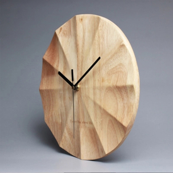 Nordic Vintage Wooden Wall Clocks Creative Retro Kitchen Wall Clock Wood Farmhouse Decor Reloj Pared Madera Vintage Watch 40C06
