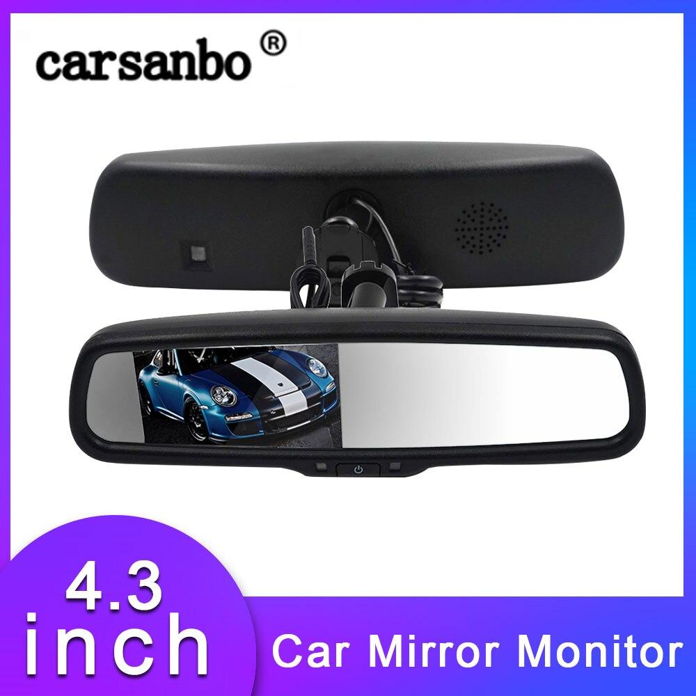 Auto Monitore 4,3 Zoll OEM Auto Dimmen Funktion TFT LCD Farbe Screen Auto Rückspiegel Monitor Auto Parkplatz Display Monitor