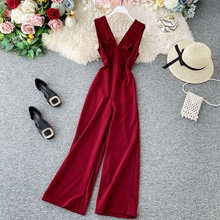 2020 New Spring Summer Jumpsuits for Women Sleeveless Overal