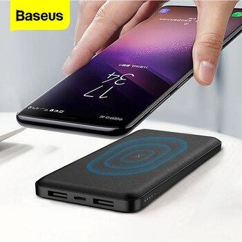 Baseus 10000mAh Qi Wireless Charger Power Bank External Battery Wireless Charging Powerbank For iPhone11 X Samsung huawei Xiaomi