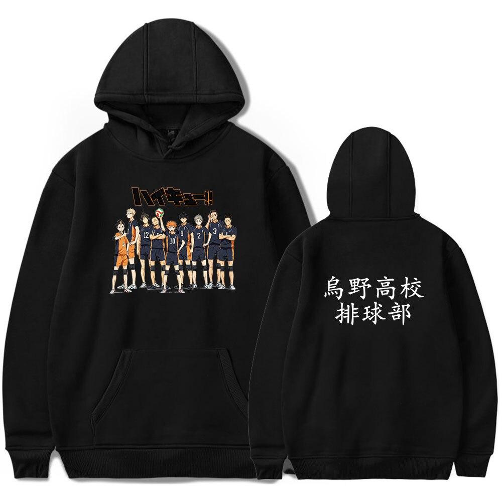Japan Anime Haikyuu Cosplay Hoodie Women Men Harajuku Sweatshirt Karasuno High School Pullover Hooded Jacket Casual Sportswear