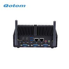 Qotom q430p q450p núcleo fanless do computador industrial i3 i5 AES-NI 4 com gpio wifi 3g 4g para a casa/escritório/banco pos quiosque pc