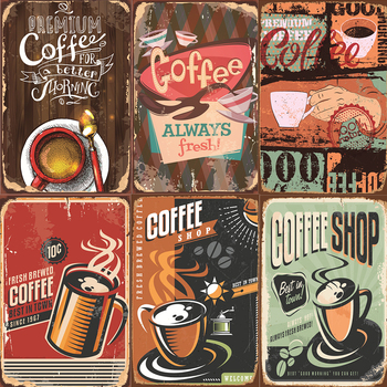 offee MenuVintage Poster C Retro Metal Tin Signs Plaque Decor for Kitchen Restaurant Bar Cafe Wall Art Plate Posters 20x30cm image