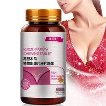 3 Bottles Woman Enhance Energy Bigger Breast Butt And Hips Enlarg 60 Tablet Kudzu Papaya Chewing Sup