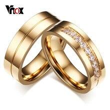 Vnox-anillos de boda para hombre y mujer, banda de compromiso de acero inoxidable, joyería de compromiso, bisutería de alianza, 1 par