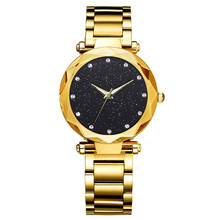 Buy Woman Watch 2019 Diamond Crystal Starry Stainless Steel Belt Ladies Watches Luxury Jewelry Quartz Clock Montres Femme directly from merchant!
