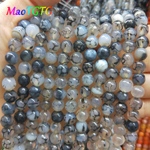 Natural Black Dragon Agates Round LooseBeads Jewelry Making Bracelet 6 8 10 12mm Pick Size Beads For Jewelry Making Bangle