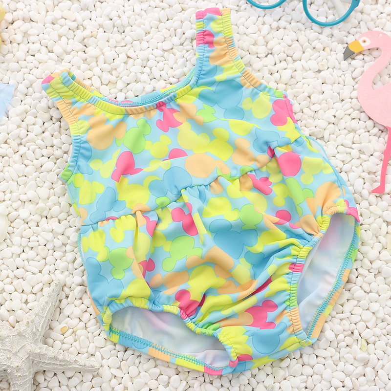 Baby Swimsuit Fashion Cute Korean Version 0--3 Years Old Infants Cartoon Cute Quick-Dry KID'S Swimwear