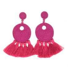 Fashion Tassel Earrings Bohemian Big for Women Statement Alloy Spray Paint Jewelry Earings 2020