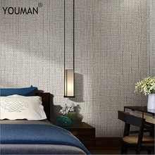 Wallpapers YOUMAN Brief Style Plain Classic 3d Grey Beige Solid Non-Woven Wallpapers WallPaper Roll For Office Home Decor Walls(China)