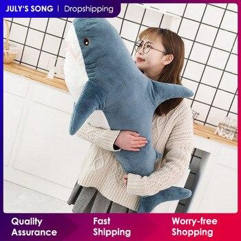 80/100/140CM Big Size Toy Plush Shark Stuffed Animals Cute Sleeping Pillow Soft Toys Cushion Shark Stuffed Gift For Children
