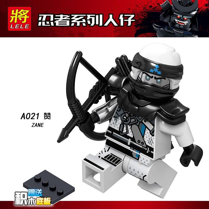 Single Sale LegoINGlys Ninja JET JACK KAI Zane SKULLBREAKER MUZZLE COLE Bricks Blocks Collection Diy Toys Baby Gifts A017-024