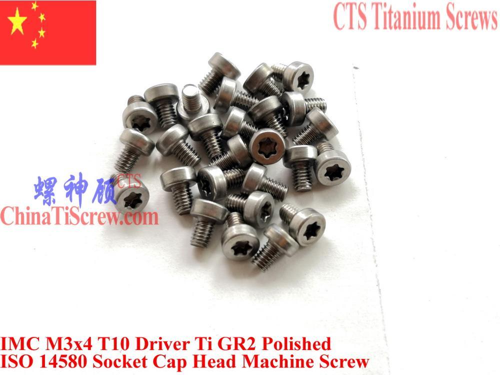 ISO 14580 титановые шурупы M3x4 M3x5 M3x6 M3x8 M3x10 M3x12 Torx T10 с головкой головки драйвера Ti GR2 25 шт