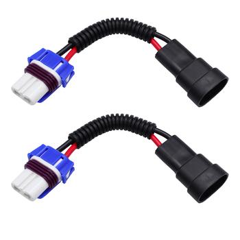 YUNPICAR 9005 HB3 do 9006 HB4 gniazdo Pigtail kable w wiązce złącze przewodu do reflektorów lub światła przeciwmgielne 2 szt tanie i dobre opinie Drut miedziany