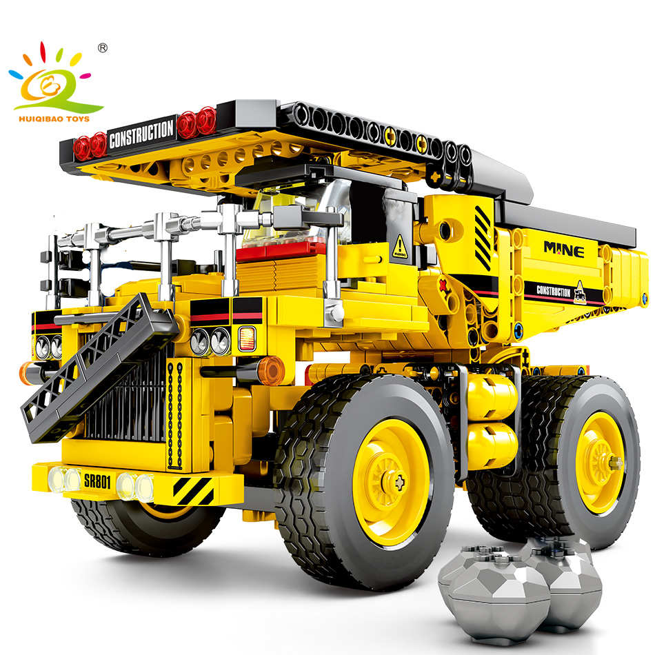 807pcs Dump Truck Building Blocks Compatible Legoing Technic Tipper Car City Engineering Construction Bricks Toys For Children