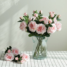 2pcs Rose simulation flower silk wholesale wedding holiday decoration crafts home garden flowers