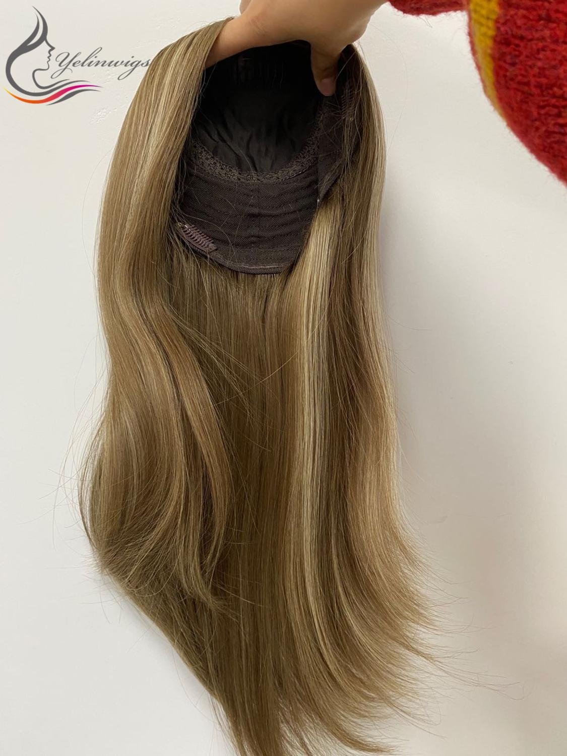 Popular European Virgin Hair Silk Top Jewish Topper Popular Hair Pieces For White Women With Discount Price