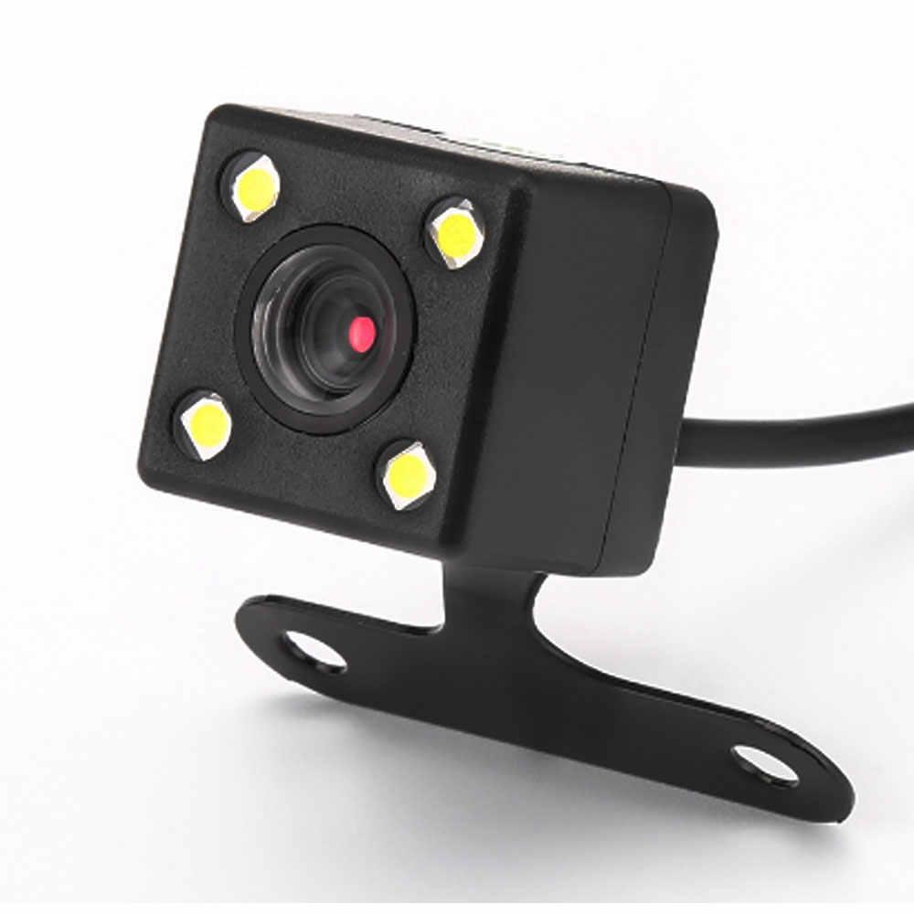 Kamera Belakang Mobil Tersembunyi Backup Reverse Kamera Belakang untuk Universal 2 DIN Mobil Multimedia Player DVR GPS Monitor Cermin auto Radio MP5 Video Stereo Auto Radio dengan 4 LED Tahan Air Malam Visi Wide Derajat HD CDD Lensa