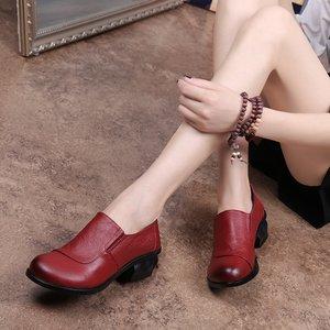 Image 4 - GKTINOO אביב סתיו אופנה מוקסינים 100% עור אמיתי יחיד נעלי רך מזדמן שטוח נעלי נשים דירות אמא נעלי 35  40