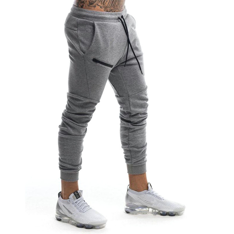 YEMEKE Brand Autumn Winter Fitness Men Gyms Pants Fashion Cotton Pencil Pants Bodybuilding Trousers High Quality Jogger Pants