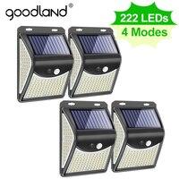Goodland 222 100 lampada solare da esterno a LED a luce solare con sensore di movimento faretti a luce solare ad energia solare per la decorazione del giardino