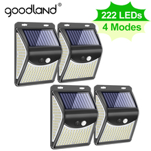 Goodland 222 144 LED Solar Light Outdoor Solar Lamp with Motion Sensor Solar Powered Sunlight Spotlights for Garden Decoration