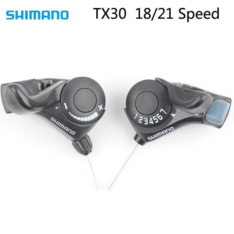 Shimano TX30 Tourney SL-TX30 рычаг переключения передач для велосипеда 3 6 7s 18 21 MTB переключатель триггера для велосипеда левый/правый кабель 3x 6/3x7
