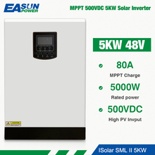 EASUN POWER Soalr Inverter 5000W 500Vdc Pure Sine Wave MPPT 80A  48V 220V Off Grid 5Kva WIth 60A Battery Charger