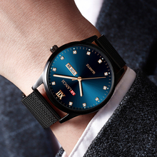 Top Brand Luxury Mens Watches Business Classic Stainless Steel Mesh Strap Waterproof Luminous Quartz Wrist Watch Male Clock sinobi stainless steel men watches quartz movement luminous hands wrist watch band top brand luxury business watch for male
