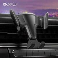 RAXFLY-Soporte de teléfono móvil para Coche, montaje de rejilla de ventilación para teléfono inteligente, rotación de 360 grados, bloqueo automático