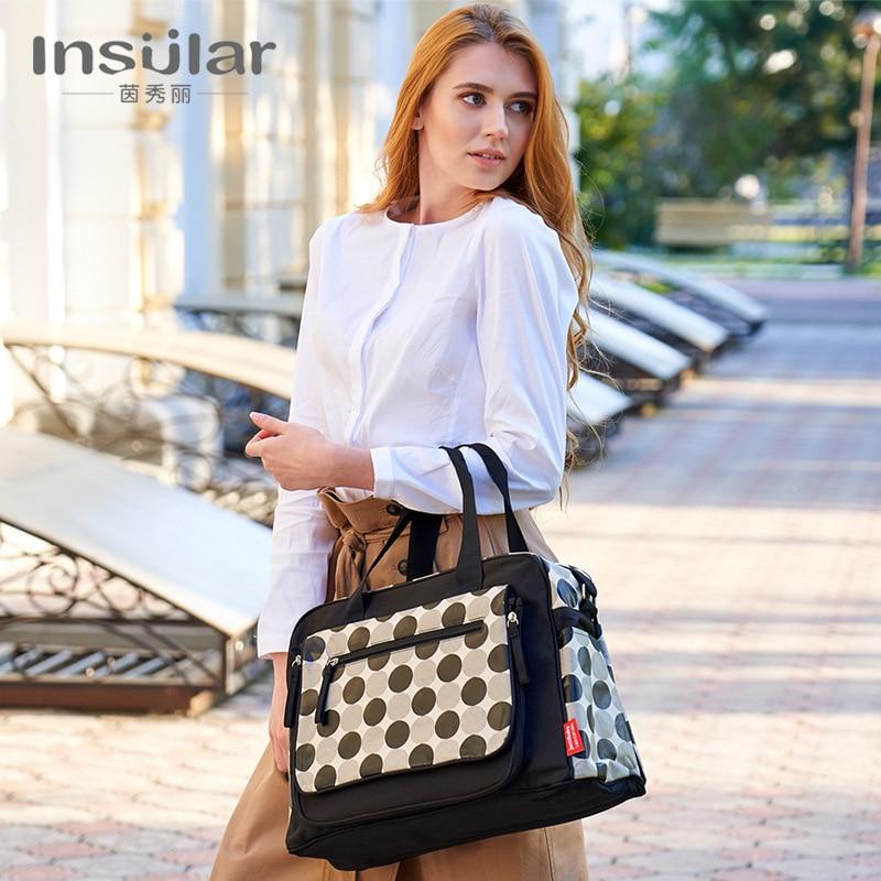 Insular Large-Volume Multi-functional Fashion Shoulder Waterproof Diaper Bag Mom And Baby Diaper Bag Cart Bag Cross Border
