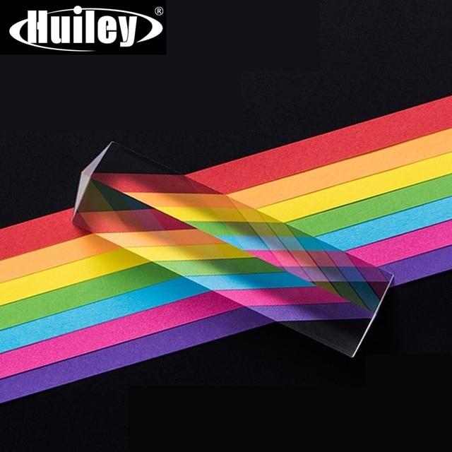 Prisma Triangular de 25x25x80mm BK7, prismas ópticos de vidrio para enseñanza de física, espectro de luz refractada, arco iris, estudiantes