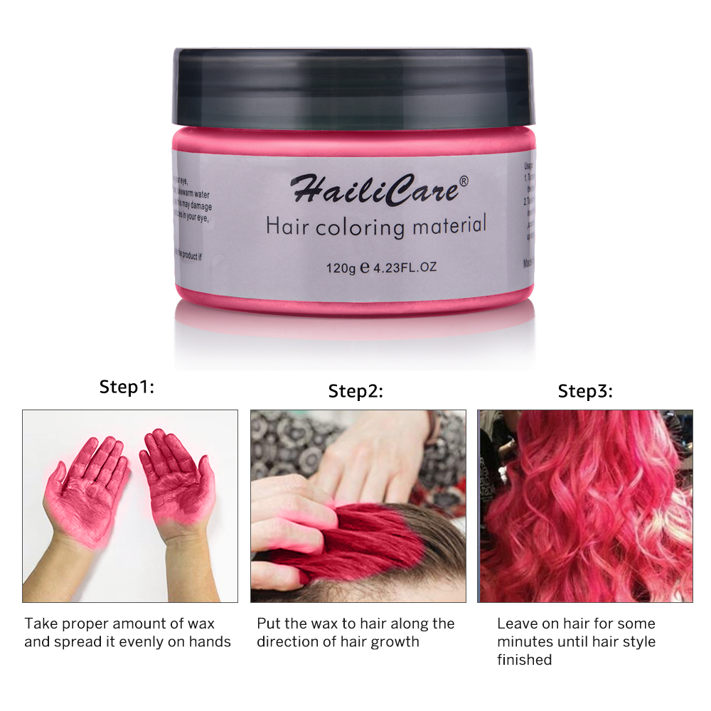 Hair Color Wax Styling Pomade One-time Molding Grandma Grey Fashion Festival Celebrate Coloring Mud Cream 7 Colors Available 5