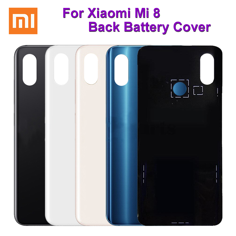 For <font><b>Xiaomi</b></font> <font><b>Mi</b></font> <font><b>8</b></font> <font><b>Battery</b></font> Back <font><b>Cover</b></font> Case Replacement Parts For <font><b>Xiaomi</b></font> <font><b>MI</b></font> <font><b>8</b></font> Back <font><b>cover</b></font> Tools For mi8 <font><b>Battery</b></font> Back image