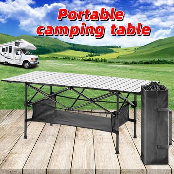 Na zewnątrz składany stół przenośny składany stół składany stół Camping stół kuchenny meble kempingowe stół piknikowy na zewnątrz składany stół przenośny tanie i dobre opinie NoEnName_Null CN (pochodzenie) Outdoor multifunctional folding table 50kg-80kg L120cmXW55cmxH50cm L18cmxW15cmxH65cm 4 91kg