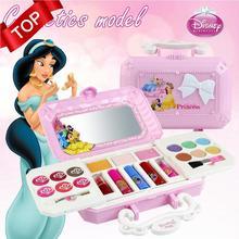 23 шт. набор косметики Дисней, набор для макияжа, милый игровой домик, детский подарок, безопасный, не токсичный, для девочек, туалетный, Косметическая Подарочная коробка