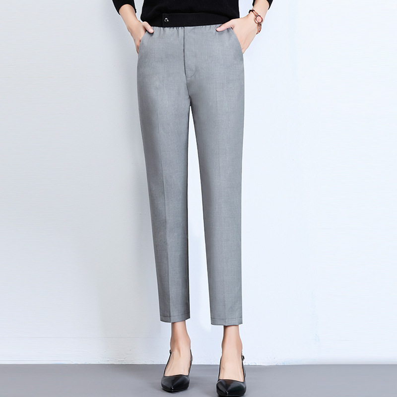 WOMEN'S Pants High-waisted Small Suit Pants Drainpipe Jeans WOMEN'S Dress 2018 Autumn & Winter New Style Korean-style Fashion Pa
