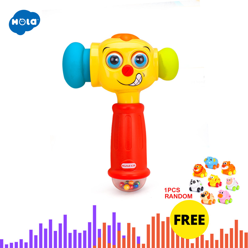 HOLA 3115 Baby Toys Toddler Play Hammer Toy With Music & Lights Electric Toys Improve Baby's Operation Ability 12 Month+