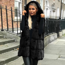 Vest Coat Jacket Teddy Plus-Size Women Sleeveless Street-Wear Faux-Fur Fashion Casual